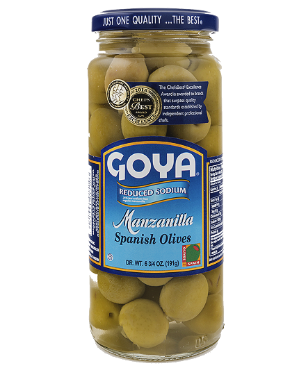 Aceitunas verdes reducidas en sodio Goya