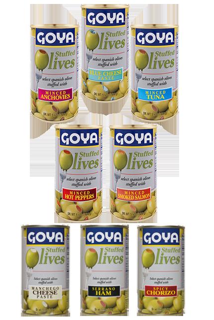 Goya cuenta con ocho variedades de rellenos especiales