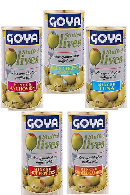 Aceitunas con rellenos especiales Goya