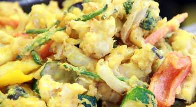 Tempura de verduras con aceite de oliva light goya