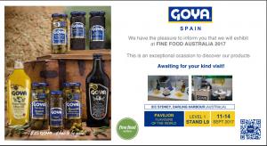 Invitación al Stand de Goya España en la Feria Fine Food