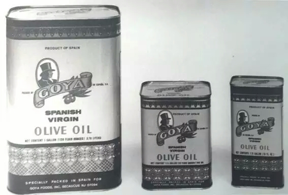 Tinplate canisters Goya Olive Oil