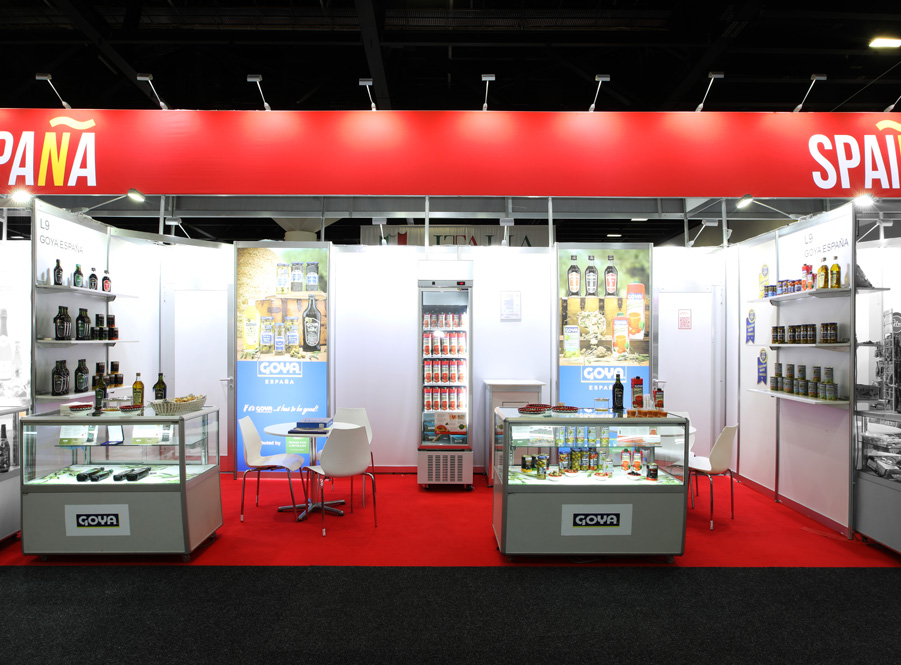 Goya Spain stand at Fine Food