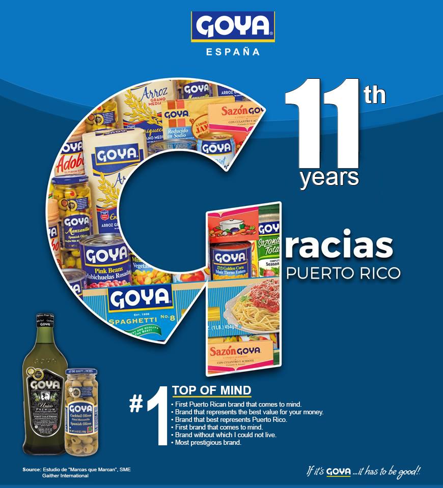Goya top of mind Puerto Rico