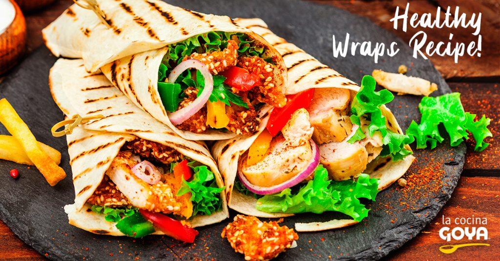 Wraps de pollo con verduras