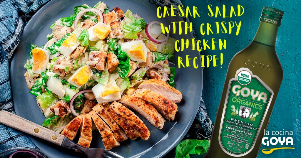 Caesar salad & crispy chicken recipe!