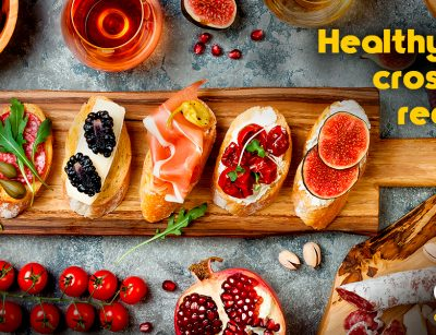 Healthy crostinis with goya products