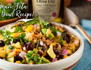 Black Bean-Feta Quinoa Bowl Recipe!