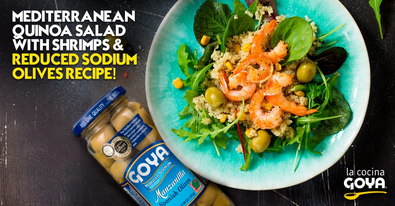 mediterranean quinoa salad with shrimps reduced sodium olives recipe