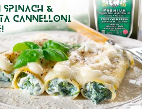 vegan spinach and ricotta cheese-canelones de espinaca