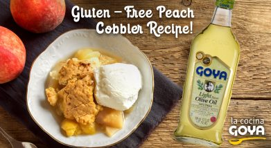 Pastel de melocton | Gluten free peach cobbler recipe