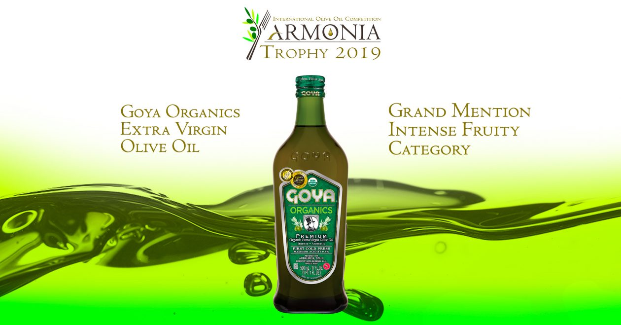 Chamber of Commerce of Parma has awarded Goya Organics with a Grand Mention in XIII International Olive Oil Competition ARMONIA