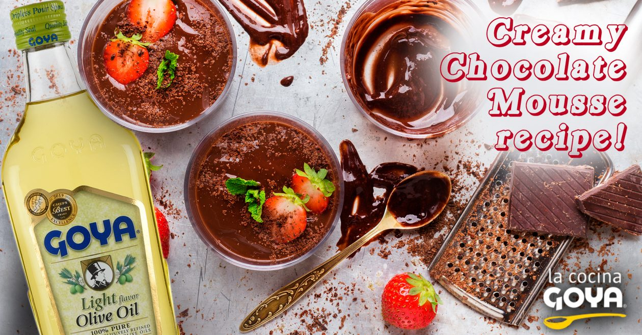 Mousse de chocolate cremosa