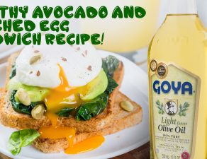Healthy avocado and poached egg sandwich Recipe!