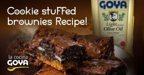 Cookie stuffed brownies Recipe!