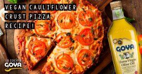 Vegan Cauliflower Crust Pizza Recipe!