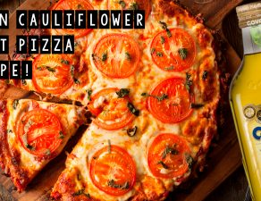 Vegan Cauliflower Crust Pizza Recipe!