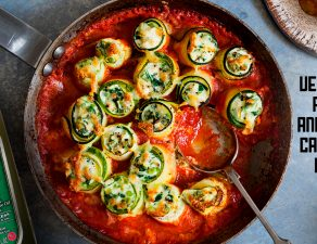 Zucchini canneloni | Canelones de calabacín rellenos de queso Ricotta