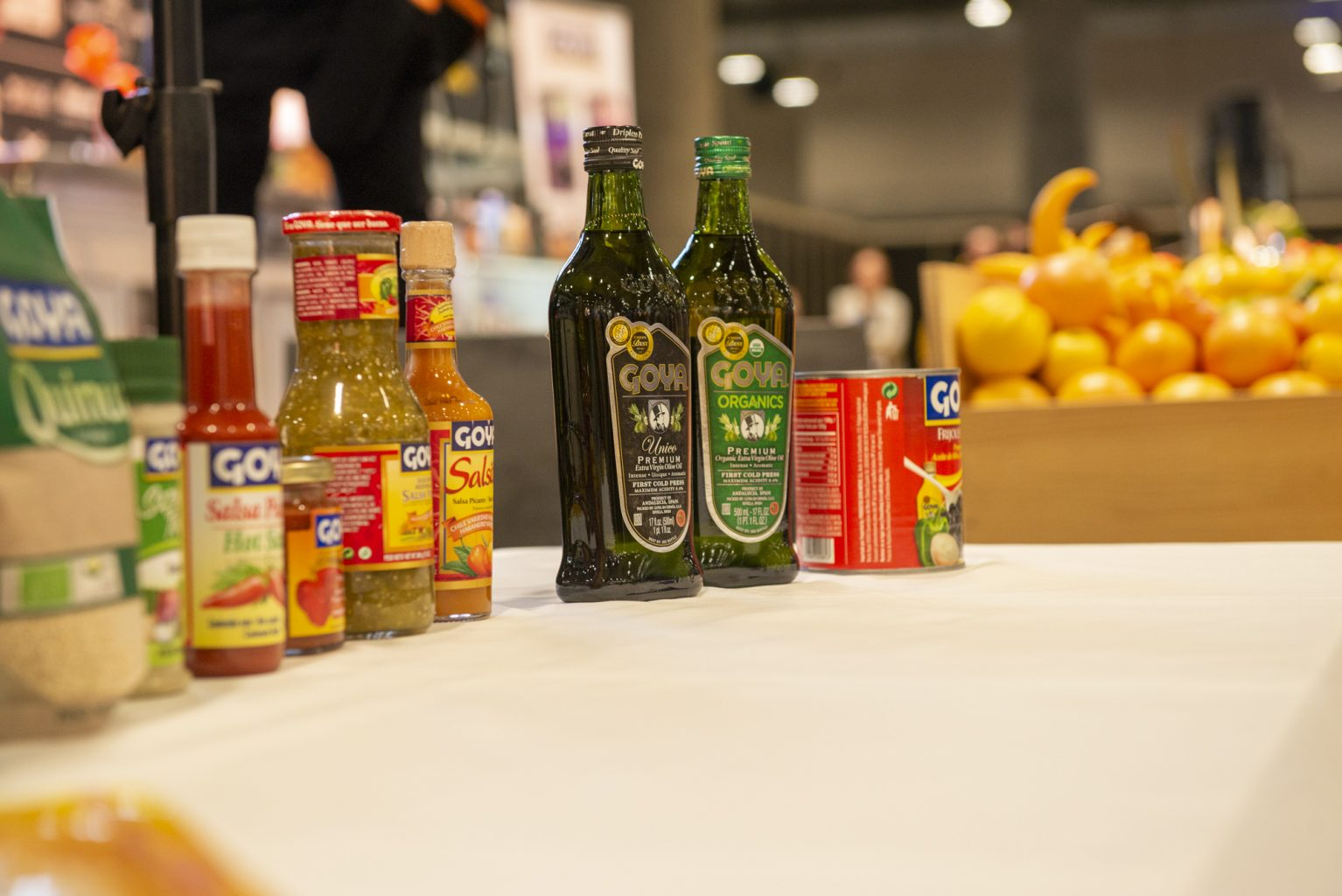 Mix of Goya products for the showcooking