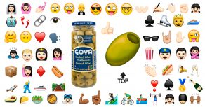 Emoji aceituna | table olive