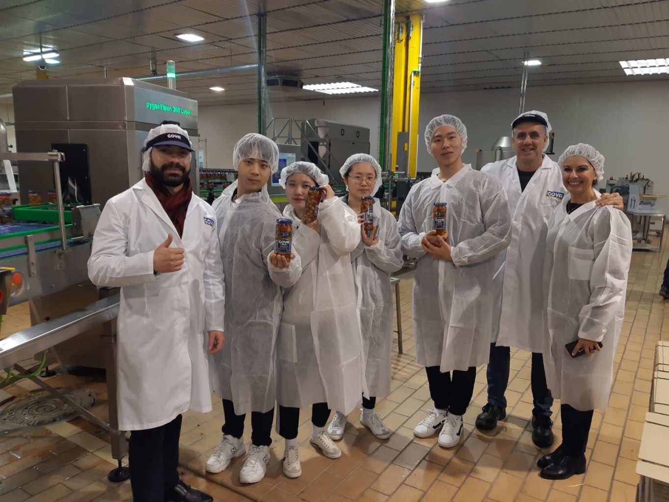 Korean national artistic Taekwondo team at Goya Spain factory