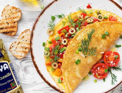 Tortilla de aceitunas| olive omelette