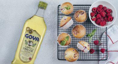 Muffins de frambuesas | Raspberry muffins recipe